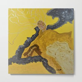 Yellow Storm Metal Print