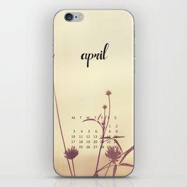 April 2017 Calendar iPhone Skin