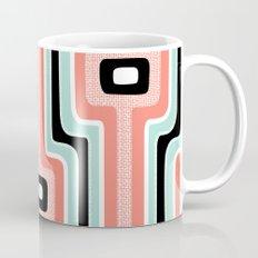 Coral Stripe Mod Coffee Mug