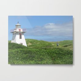 A Boy and His Lighthouse Metal Print