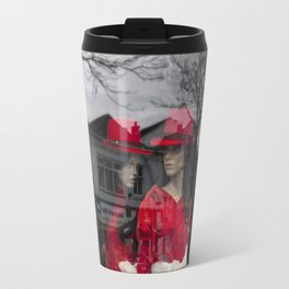 City girls with red hats Travel Mug