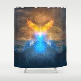 Phoenix Rising - 3rd Annual HeART & SOULstice Gathering  Shower Curtain
