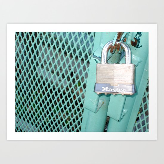 Behind Locked Gates Art Print