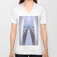 cityscape V-neck T-shirts featuring Cityscape by Irfan Gillani