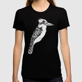 Black and White Kookaburra Illustration T-shirt