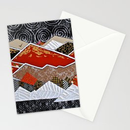 Rocky Mountains Wild (Red) - Landscape Stationery Cards
