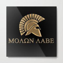 Molon lave-Spartan Warrior Metal Print