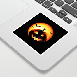 Smile Of Scary Pumpkin Sticker