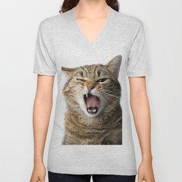 Crazy Cat Unisex V-Neck