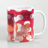 polka dot Mugs featuring Polka-Dot by Liz Belen
