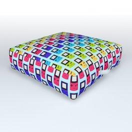 Rainbow Nostalgia Outdoor Floor Cushion
