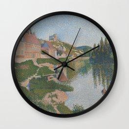 La berge ; Les Andelys Wall Clock