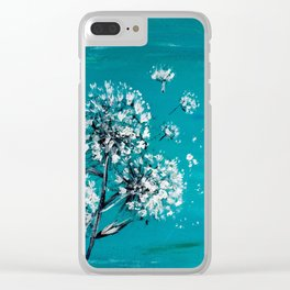 Simple Dandelion Wishes Clear iPhone Case