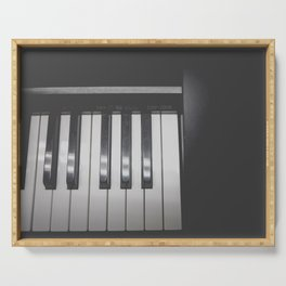 Electronic Keyboard Faded Serving Tray