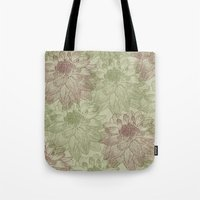 peonies Tote Bags featuring Peonies by Zen and Chic