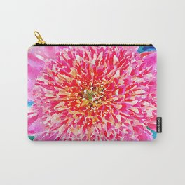 Pink Watercolor Flower Carry-All Pouch