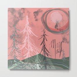 Moon Child - Abstract Digital Art - February 2020 Full Moon Metal Print