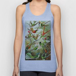 Kunstformen der Natur (Art Forms in Nature)a book of lithographic and halftones. Hummingbirds Unisex Tank Top