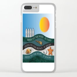 Listen To The Wind - It Talks Clear iPhone Case
