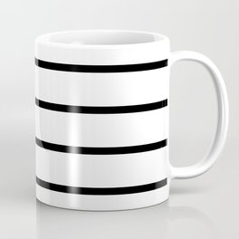 Horizontal Lines (Black & White Pattern) Coffee Mug