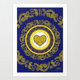 Pasta Heart Art Print