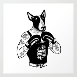 Dog: Bull Terrier the Boxer Art Print