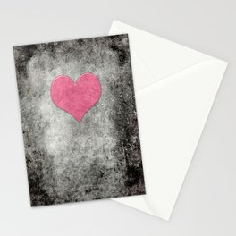 Grunge with heart Stationery Cards