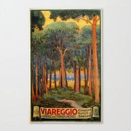 Viareggio woods and sea Canvas Print