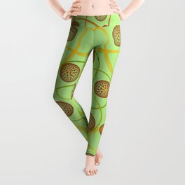 Spiral Round Green Leggings