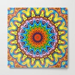 Vibrant Colorful Mandala Metal Print