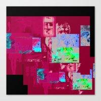 caitlin hackett Canvas Prints featuring caitlin by tobetobe