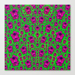Fantasy Valentine in floral love and peace time Canvas Print