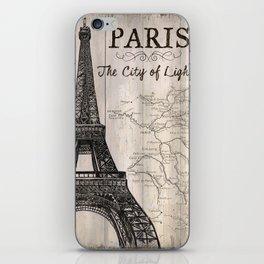 Vintage Travel Poster Paris iPhone Skin