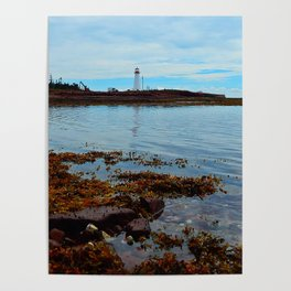 Point Prim Lighthouse Reflected Poster