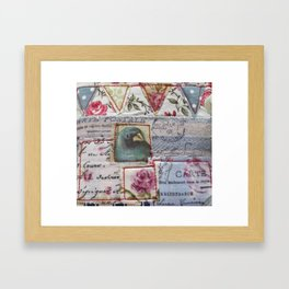 Bunting and Bird Framed Art Print