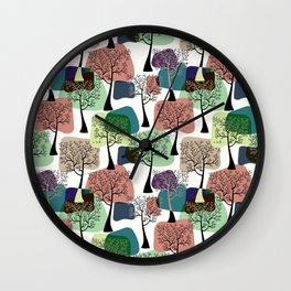 Tree & tree. Wall Clock
