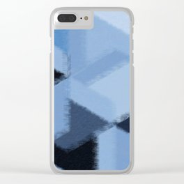 Warm Blue Fuzzies Clear iPhone Case