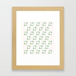 Holiday Wreath Pattern Framed Art Print