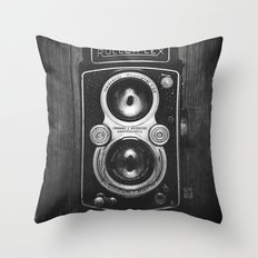 The King of Cameras - The Rolleiflex Throw Pillow