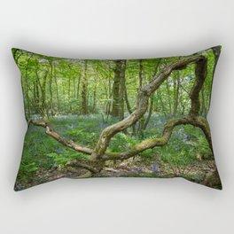 glorious bluebell woodland Rectangular Pillow