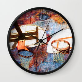 Basketball hoops art Wall Clock