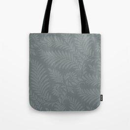 Fancy Leaves Scroll Damask Night Watch Pewter Green Pattern Tote Bag