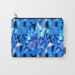 FACETED LONDON BLUE TOPAZ GEMSTONES Carry-All Pouch