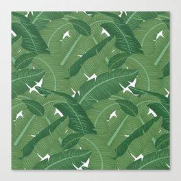 Banana Leaves - Bg White Canvas Print