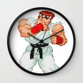 Ryu Hoshi Pixel Art 2 Wall Clock