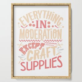 Craft Supply Shopping and Crafting Gifts and Apparel Serving Tray