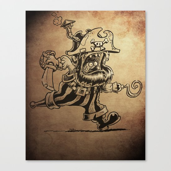 Steam powered Pirate Canvas Print