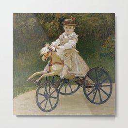 Jean Monet on his Hobby Horse Metal Print