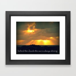 The Sun Shines Through The Clouds Framed Art Print