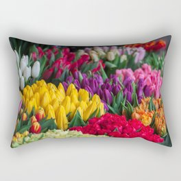 Flower Garden Rectangular Pillow